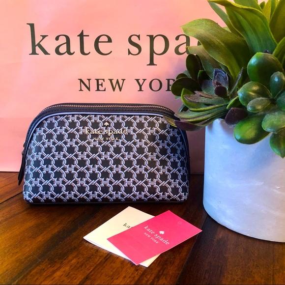 Kate Spade Blue Spade Link Small Cosmetic Bag NWT